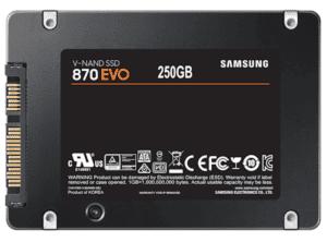 An image of the Samsung 870 EVO SSD.