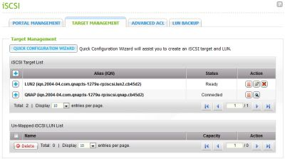 Once you complete the steps of the wizard you'll have an iSCSI target available to any client machine on your network.