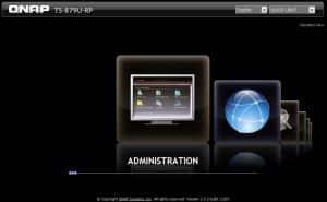 QNAP's Standard Login Screen
